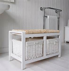 bathroom storage bench portland white storage bench for the bathroom from the