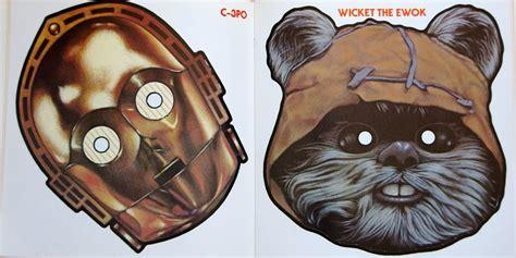 Ewok Mask Template rozum 30 years of return of the jedi part 8