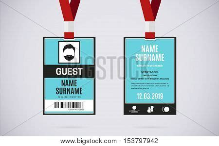 Event Id Card Template by Event Guest Id Card Vector Photo Free Trial Bigstock