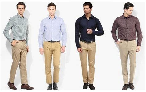 Celana Formal Pria Slim Fit Brown Kode Ck 02 which shirt is best match with khaki quora