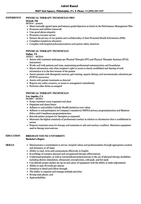 physical therapy resume examples resume templates