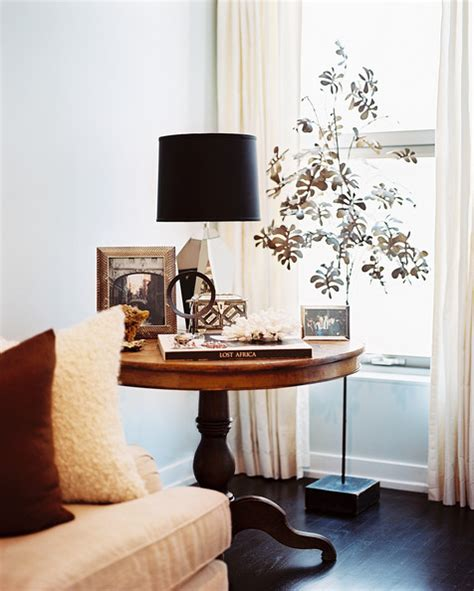 how to decorate a side table in a living room tree sculpture photos design ideas remodel and decor