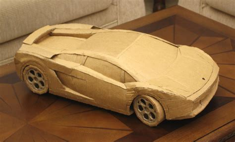 How To Make A Paper Lamborghini - cardboard lamborghini gallardo 183 bruno de hoyos