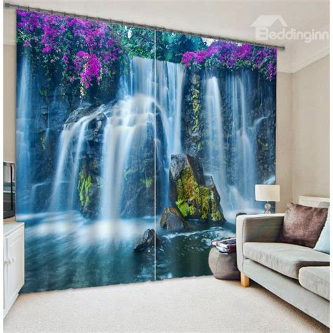 3d curtains famous huangguoshu waterfalls scenery 3d curtain