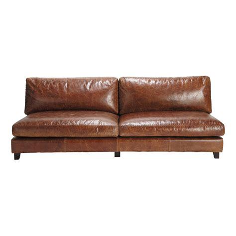 reparateur de canape cuir canap 233 2 3 places fixe cuir vintage marron nevada