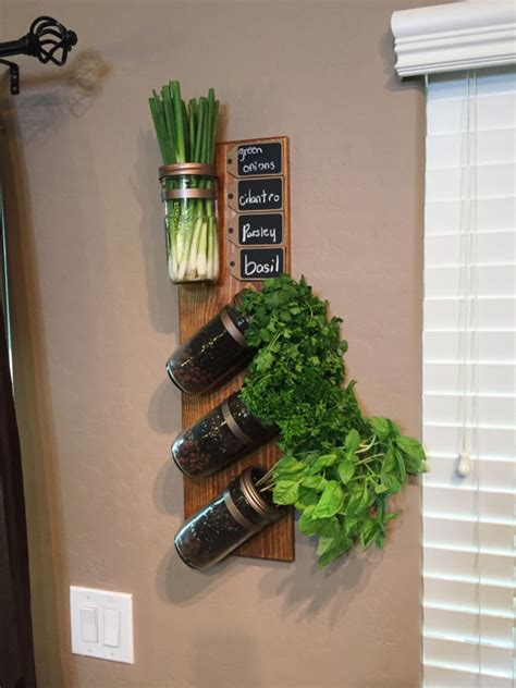 Wall Mounted Herb Planter by Vertical Garden Indoor Herb Garden Succulent Planter By