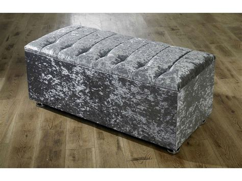 crushed velvet ottoman storage bed new ottoman storage blanket box in crushed velvet
