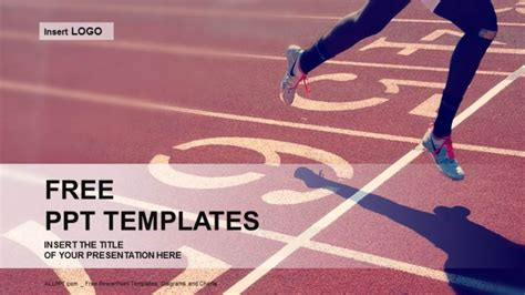 templates for powerpoint sports professional runner sports powerpoint templates