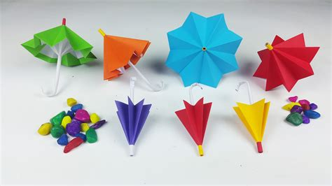 How To Make Paper Umbrella - how to make a paper umbrella that open and closes new