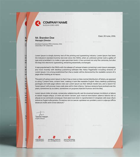 Business Letter Stationery Template creative letterhead template modern business letterhead