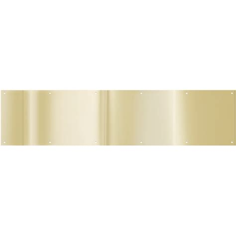 Kick Plates For Exterior Doors Shop Gatehouse 34 In X 8 In Brass Plated Entry Door Kick Plate At Lowes