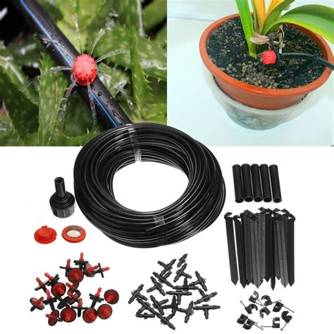 Watering Vase Potted Plants Kode Ss9714 23m micro irrigation self watering system drippers hose kit for plant garden new lazada indonesia