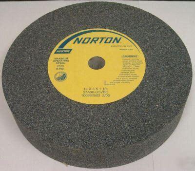 norton bench grinder wheels norton 14 quot x 3 quot x 1 1 4 quot 36 grit bench grinder wheel