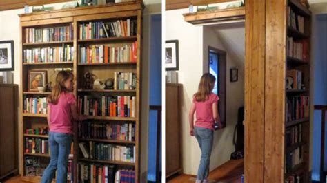 diy sliding bookshelf door for your secret room diy cozy
