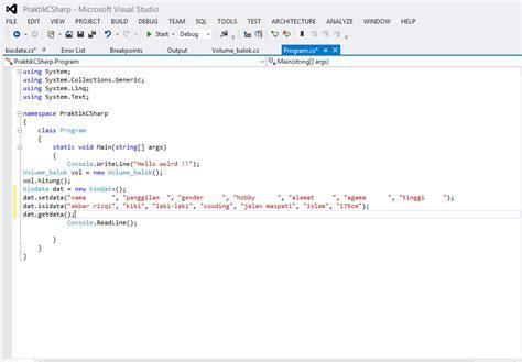 membuat setter dan getter di java menilkan biodata v2 array dan setter getter