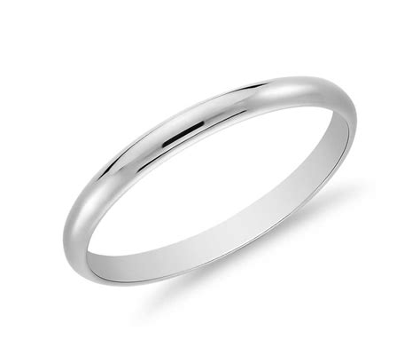 classic wedding ring in platinum 2mm blue nile