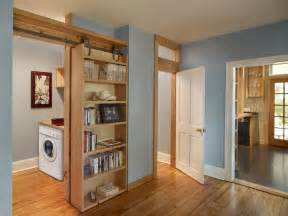Hidden Bookshelf Door Hardware Sliding Bookcase Home Furniture Hacks Built In
