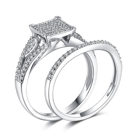 gorgeous white sapphire sterling silver s engagement