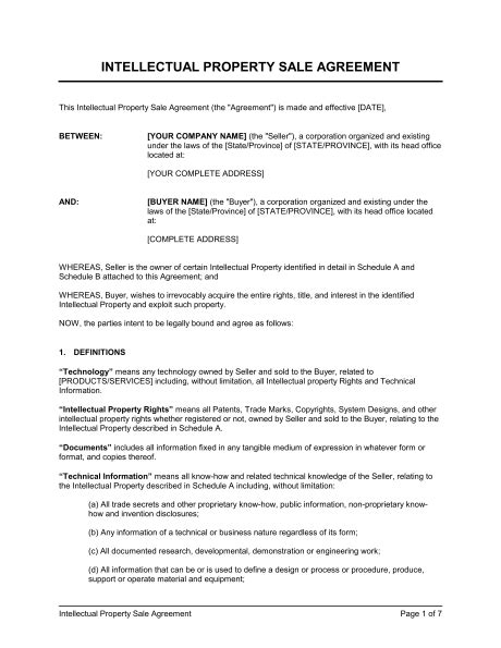 Ip Sale Agreement Template Sle Form Biztree Com Home Buyout Agreement Template