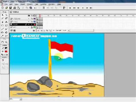 tutorial flash interactive flag animated flash images