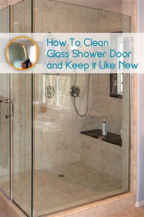 how to clean glass shower doors so they look and stay