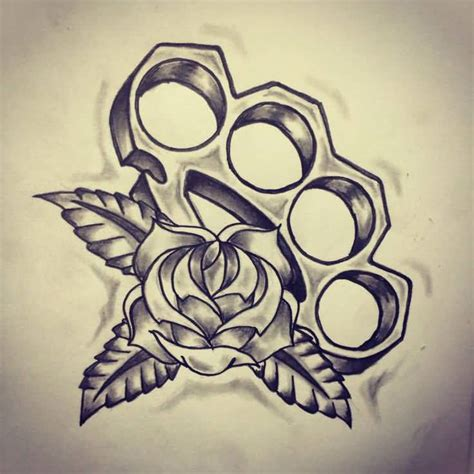 brass knuckle tattoo 49 school designs