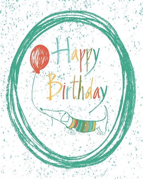 imagenes jpg de cumpleaños tarjeta del feliz cumplea 241 os dise 241 o con perro vector de