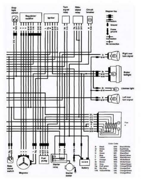 electrical wiring diagram of 1992 suzuki vs800 intruder uk