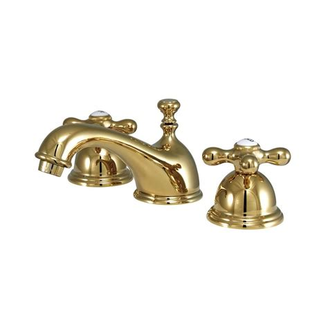 brass bathroom faucets widespread shop elements of design chicago polished brass 2 handle widespread bathroom faucet at