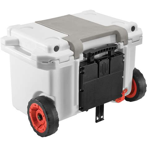 heavy duty coolers with wheels pelican elite 55 quart wheeled cooler smash it sports