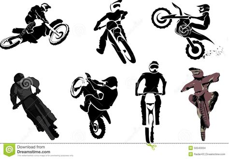 Dirt Bike Wall Stickers motorbike set stock illustration image 50545934