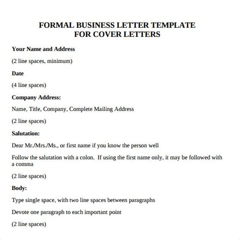 Business Letter Dear Mr Sle Business Letter Format 8 Free Documents In Pdf Word