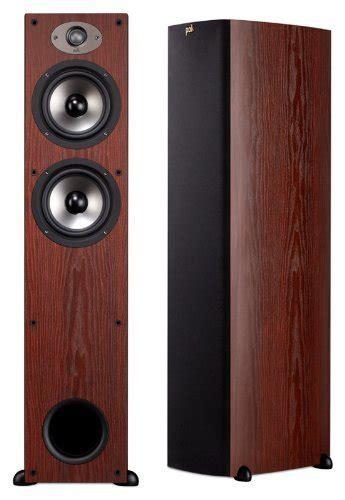 polk audio tsx tower speakers cherry  rs  set