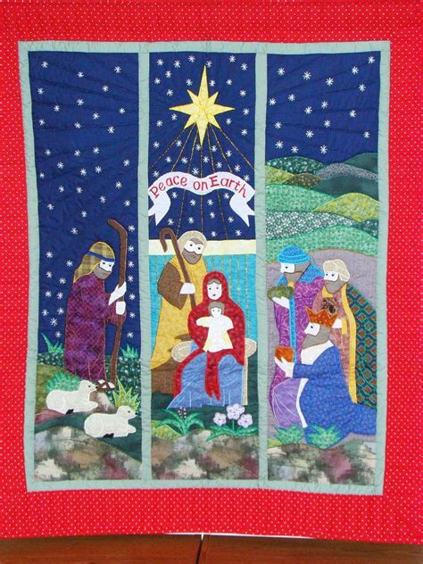 quilt pattern nativity scene christmas quilts from the christmas window