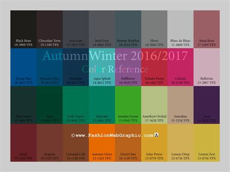 pantone 2017 color trends aw2016 2017 trend forecasting fall winter 2016 2017