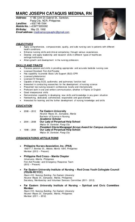 resume format sle philippines sle resume for volunteer nurses philippines krida info