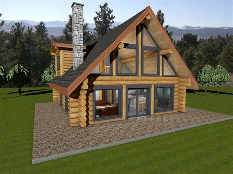 Unique Houseplans by Horseshoe Bay Log House Plans Log Cabin Bc Canada