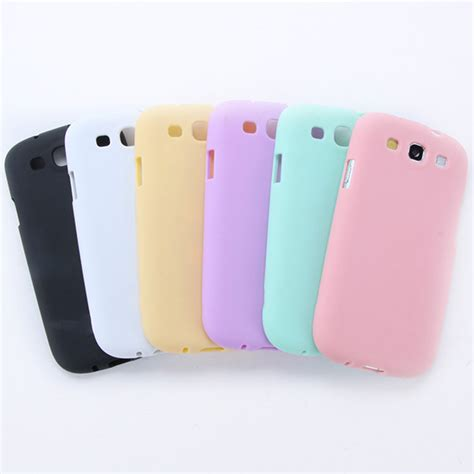 Soft Jelly Samsung Galaxy S3 high quality jelly soft cover tpu silicone skin for