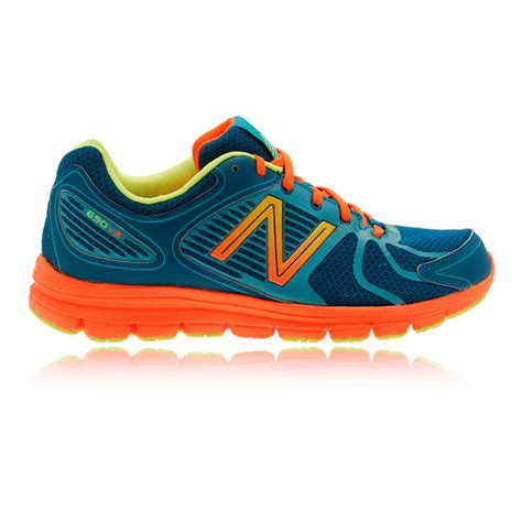 sports shoes new balance w690v3 womens orange blue cushioned running