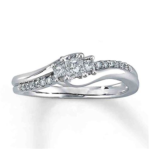 simple white gold engagement rings wedding and bridal
