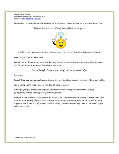 Different Outline Formats by Sle Outline Format Free