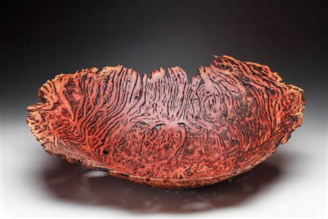 Small Red Vases Eucalyptus Wood Burls By Woodworking Artist Steve Noggle