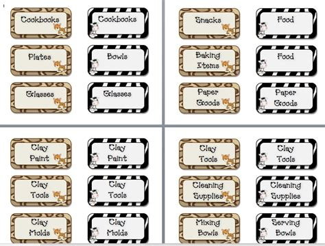 printable job labels 7 best images of free printable classroom labels spanish