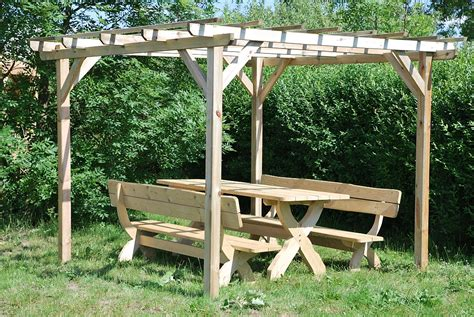 pergola with bench wooden bench and table rustic pergola design wonderful