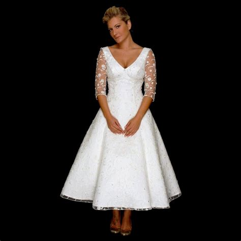 50s style wedding dress tea length wedding dresses 50 s