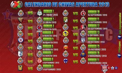 calendario apertura 2013 por jorge20 primera divisi 243 n