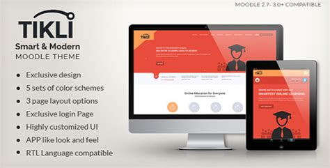 moodle themes themeforest tikli responsive moodle theme by sorcerers themes