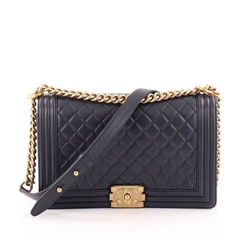 Quilted Boy Flap by Buy Chanel Boy Flap Bag Quilted Lambskin New Medium Blue