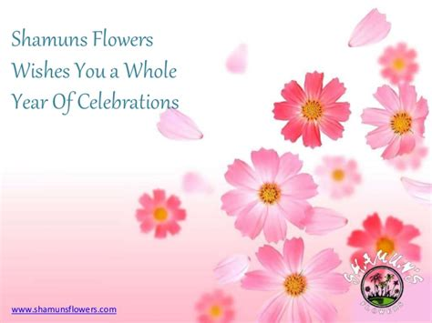 new years greetings from shamuns flowers