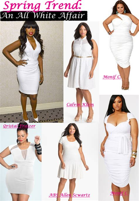 all white outfits shopstyle spring trends all white plus size dresses stylish curves